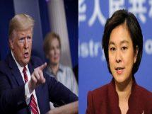 چینی دفترخارجہ کی ترجمان اور امریکی صدر ڈونلڈ ٹرمپ